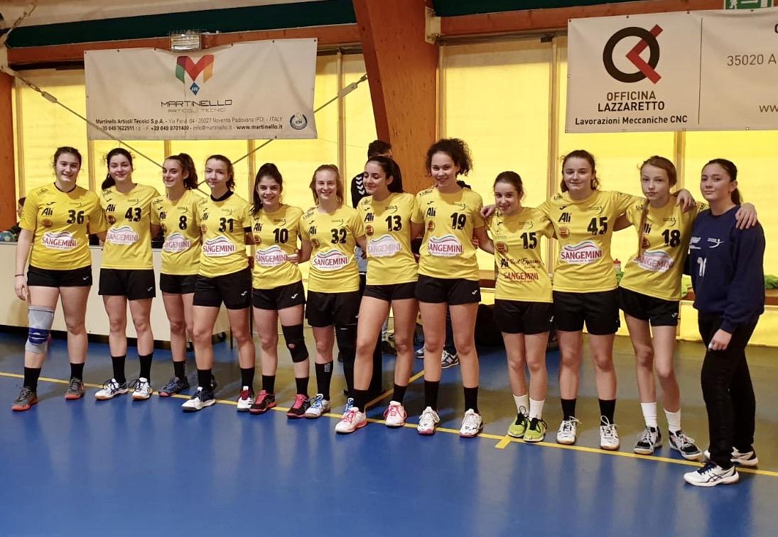 Le Under 15 gialloverdi vittoriose sul campo del Cellini
