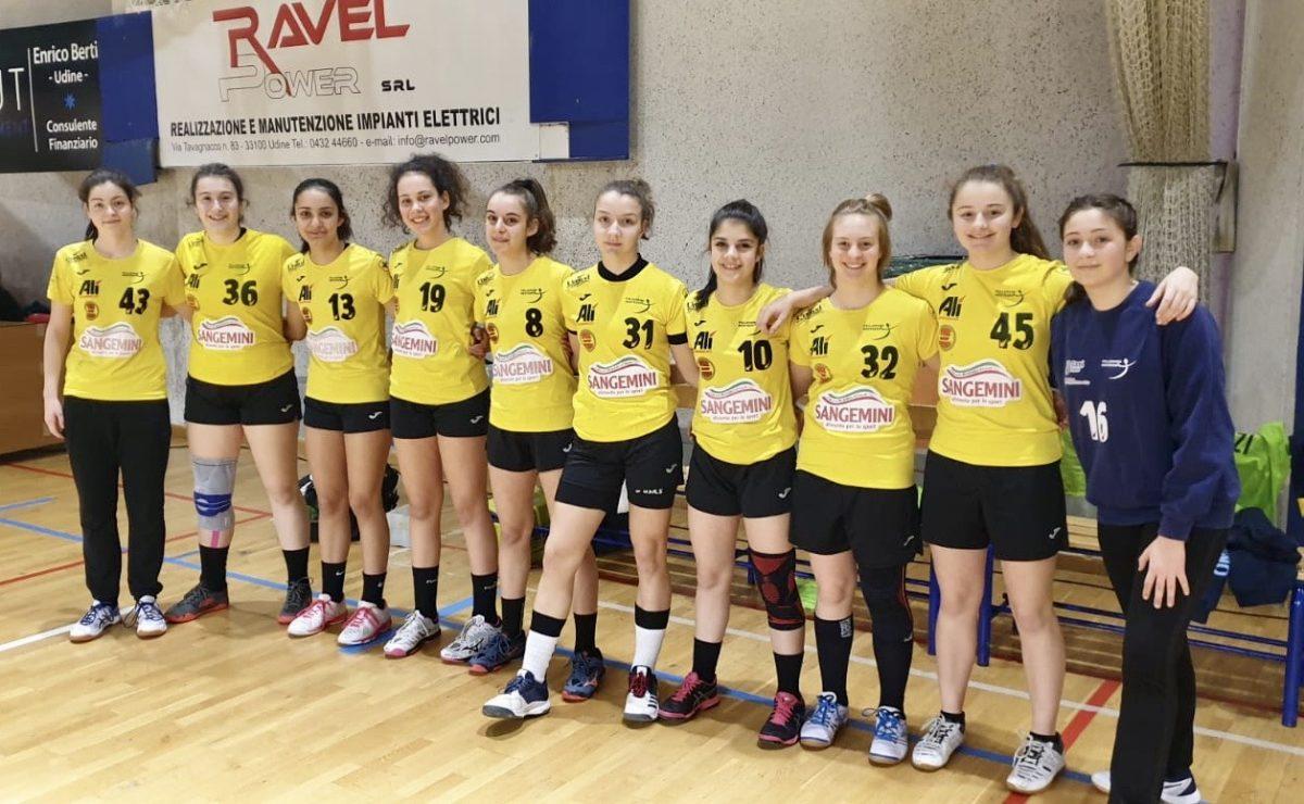 Le Under 15 gialloverdi corsare a Udine